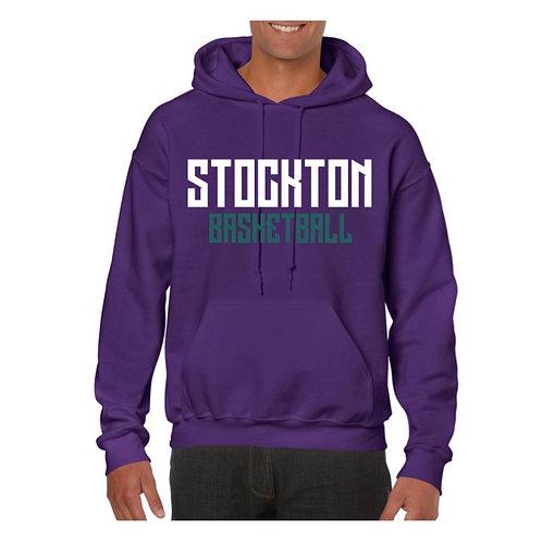 Stockton Basketball Purple Hoody design 2