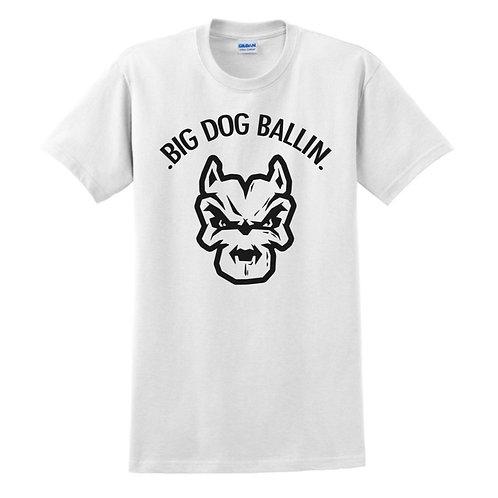Big Dog Ballin White big logo T-shirt