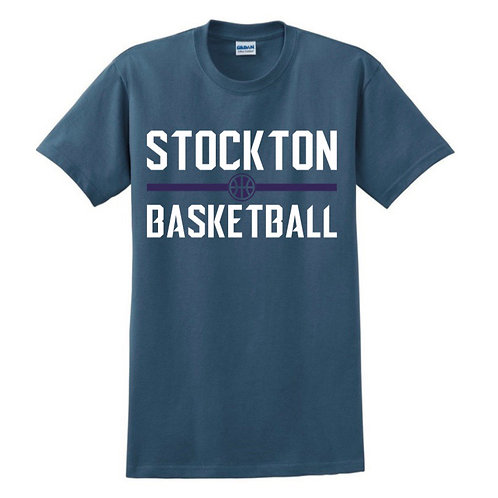 Stockton Basketball - Indigo Blue T-shirt Design 4