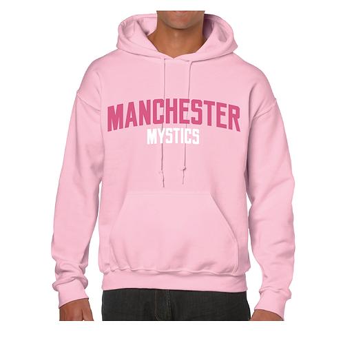 Manchester Mystics Light Pink Hoody - Pink & White print