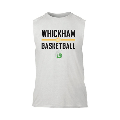 Whickham Sleeveless White T-shirt