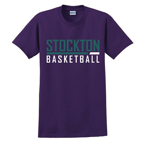 Stockton Basketball - Purple T-shirt Design 5
