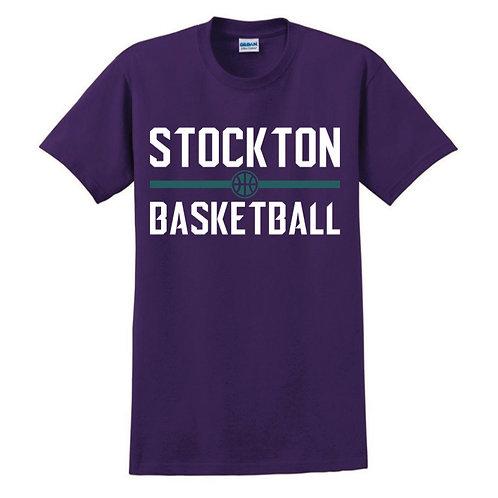 Stockton Basketball - Purple T-shirt Design 4