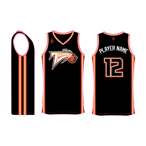 Worthing Thunder Training Jersey Design 1 - Black
