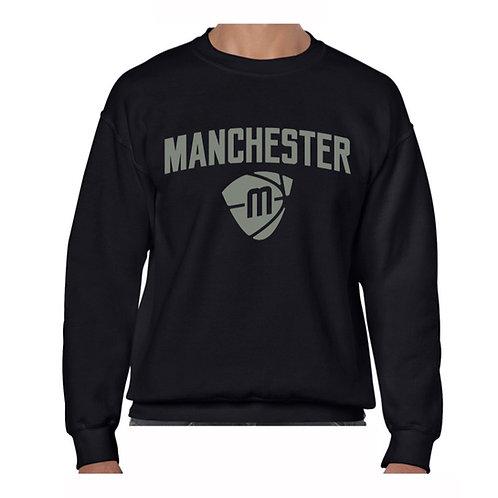 Manchester Magic & Mystics Text and Logo Black Crew - Grey