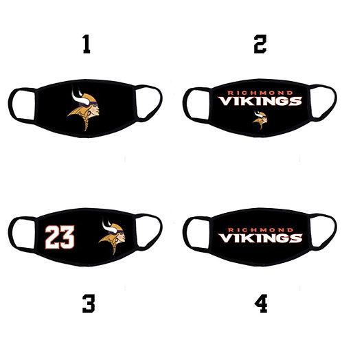 Richmond Vikings Black custom face mask