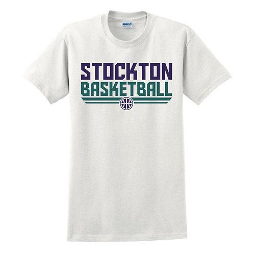 Stockton Basketball - White T-shirt Design 3