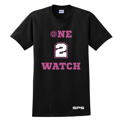 One to Watch Black & Pink T-shirt