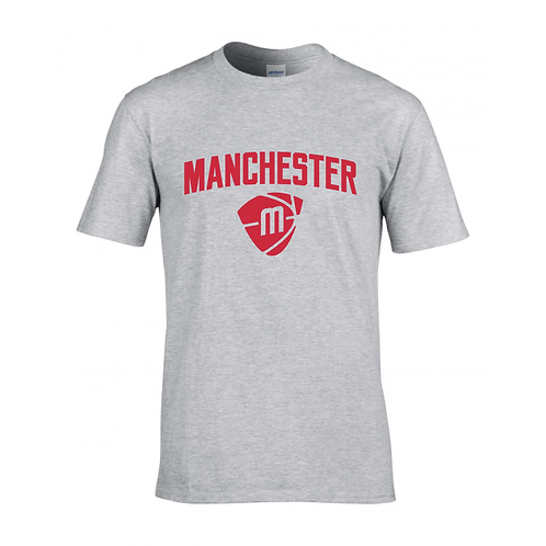 Manchester Magic & Mystics Text and Logo Sport Grey T-shirt - Red