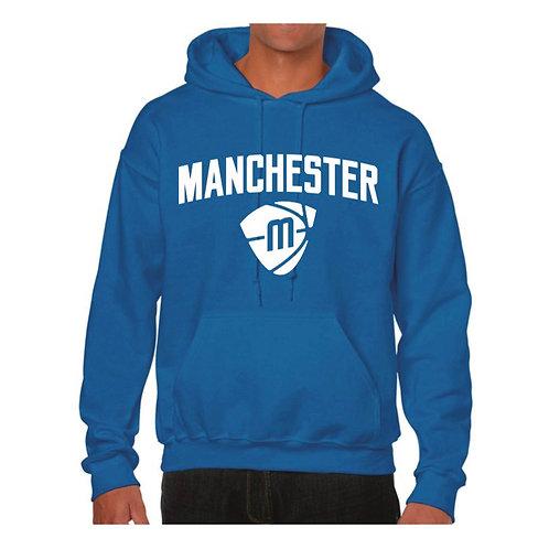 Manchester Magic & Mystics Text and Logo Blue Hoody