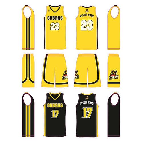 Caerphilly Cobras Yellow Kit & Black vest bundle