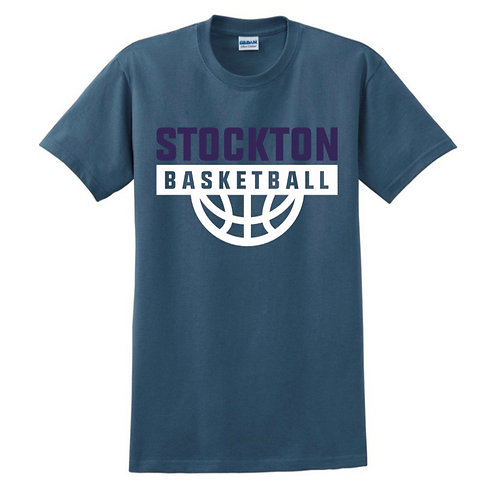 Stockton Basketball - Indigo Blue T-shirt Design 7