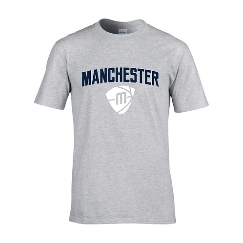 Manchester Magic & Mystics Text and Logo Sport Grey T-shirt - Navy& White