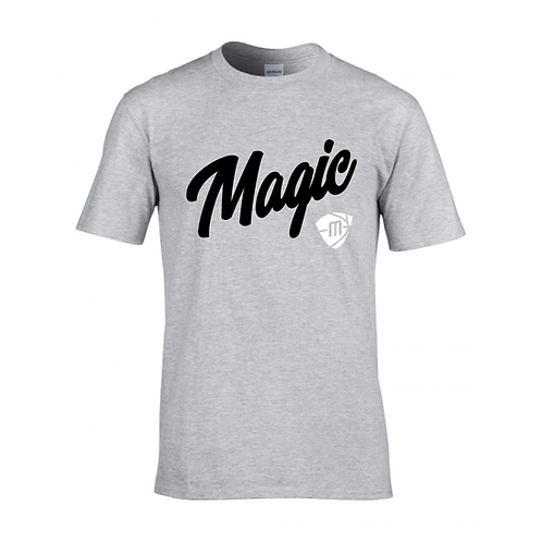 Manchester Magic Script & Logo Sport Grey T-shirt - Black