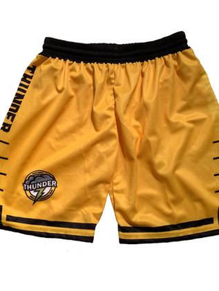 hoop freakz basketball kit thunder short
