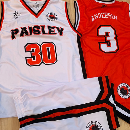 Paisley Basketball Home & Away Kits