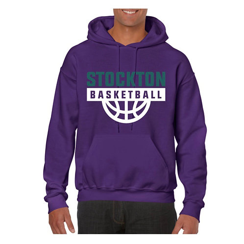 Stockton Basketball Purple Hoody design 7