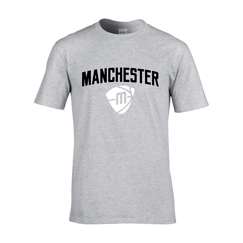Manchester Magic & Mystics Text and Logo Sport Grey T-shirt - Black & White