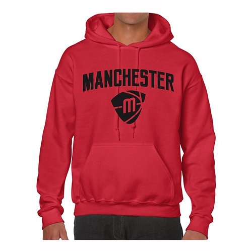 Manchester Magic & Mystics Text and Logo Red Hoody