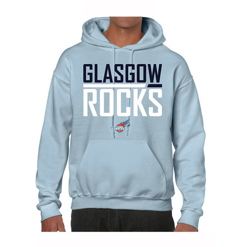 Glasgow Rocks Juniors Hoody design 2 - Light Blue