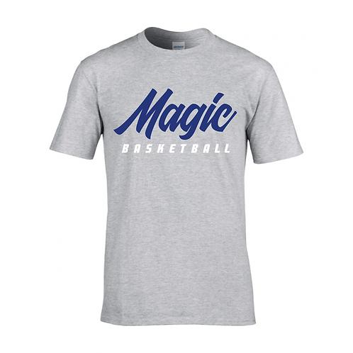 Manchester Magic Basketball Sport Grey T-shirt - Royal Blue & White