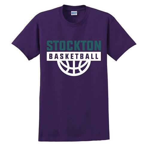 Stockton Basketball - Purple T-shirt Design 7