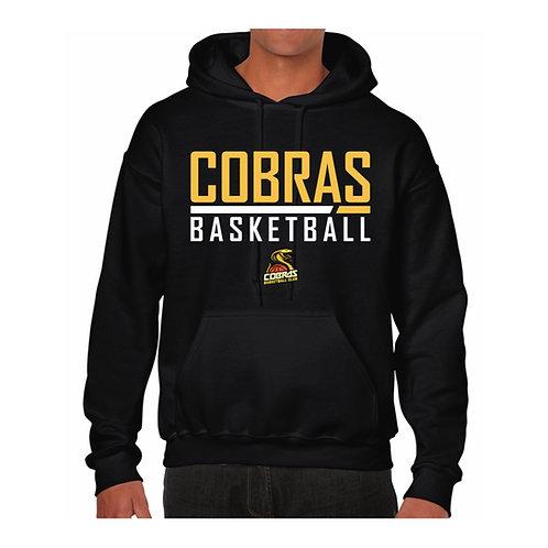 Caerphilly Cobras Black Hoody design 1