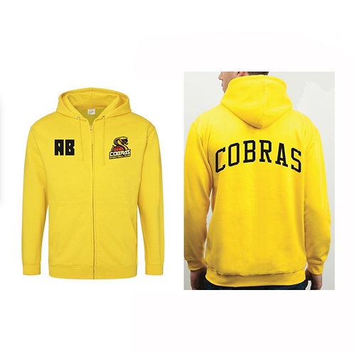 Caerphilly Cobras Sun Yellow Full Zip Hoody