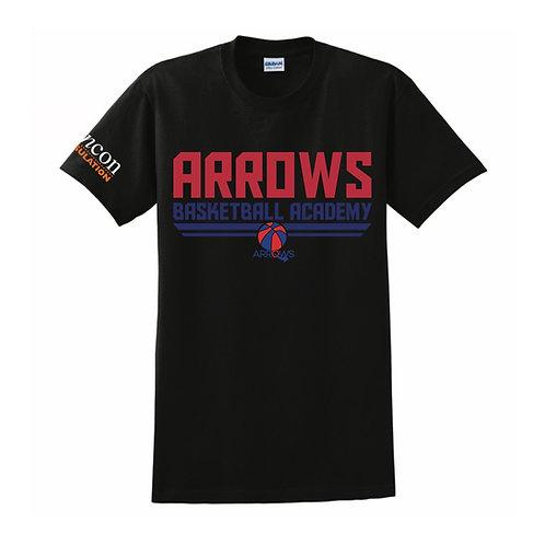 Derbyshire Arrows Black T-shirt Design 1