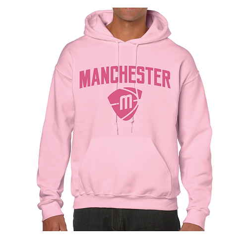 Manchester Magic & Mystics Text and Logo Light Pink Hoody - Pink print