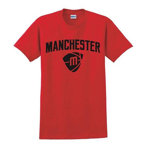Manchester Magic & Mystics Text and Logo Red T-shirt