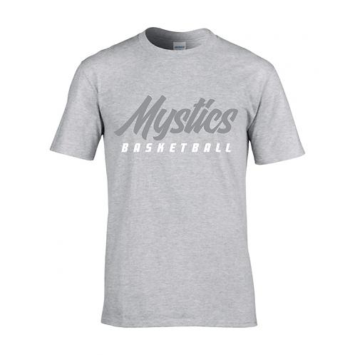 Manchester Mystics Basketball Sport Grey T-shirt - Grey & White