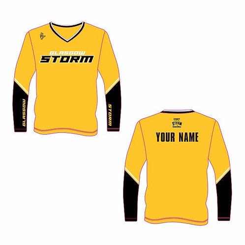 Glasgow Storm Yellow Long Sleeve Shooting Shirt