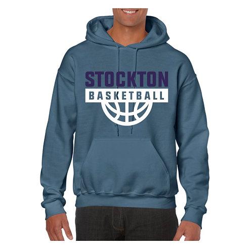 Stockton Basketball Indigo Blue Hoody design 7