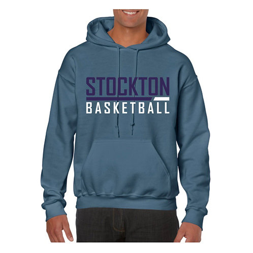 Stockton Basketball Indigo Blue Hoody design 5