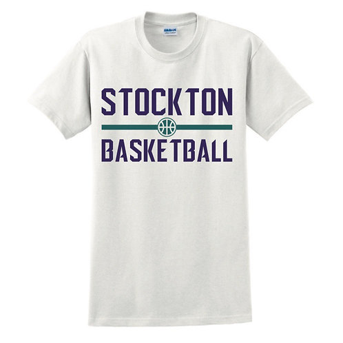 Stockton Basketball - White T-shirt Design 4