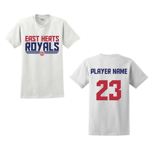 East Herts Royals - White T-shirt Design 5