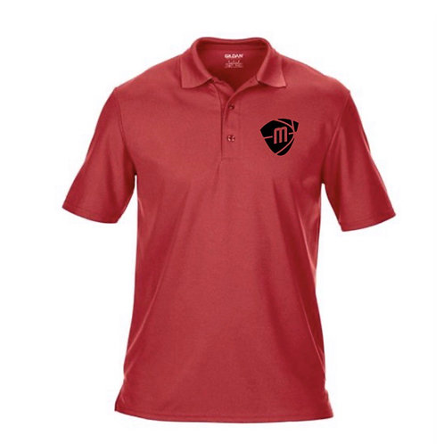 Manchester Magic & Mystics Red Sports/Performance Polo Shirt