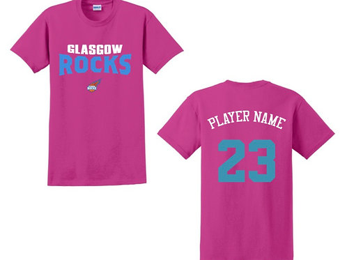 Glasgow Rocks Juniors T-shirt Design 4 - Pink