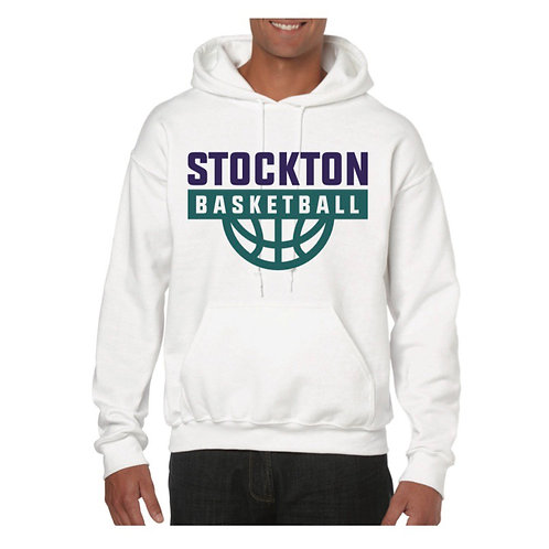 Stockton Basketball White Hoody design 7