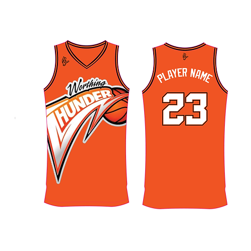 Worthing Thunder Training Jersey Design 4 - Orange