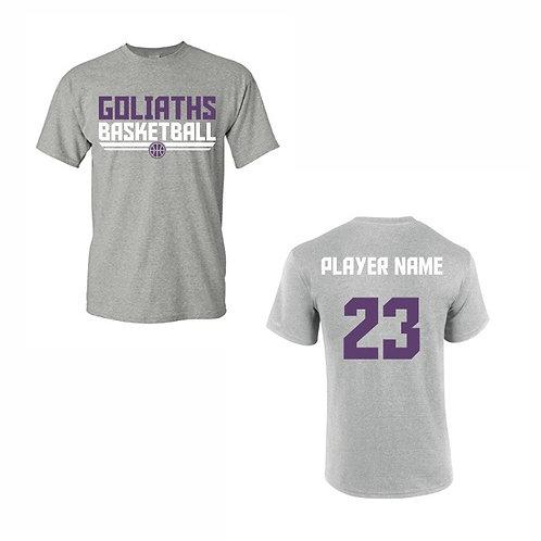 Gosforth Goliaths Grey T-shirt Design 5