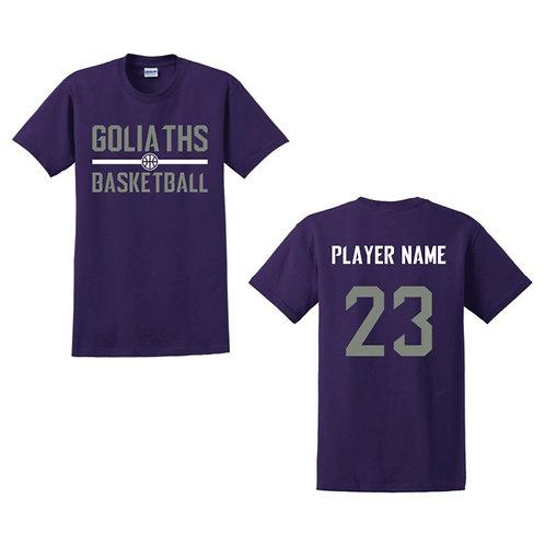Gosforth Goliaths Purple T-shirt Design 3
