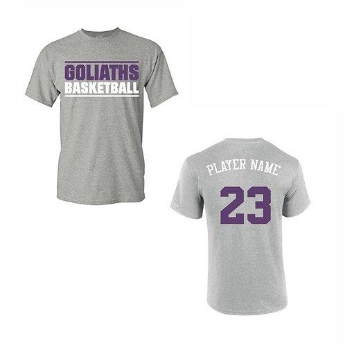 Gosforth Goliaths Grey T-shirt Design 1
