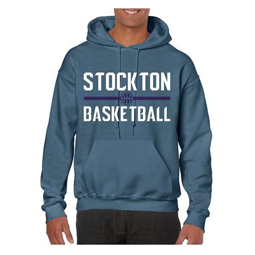 Stockton Basketball Indigo Blue Hoody design 4