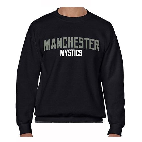 Manchester Mystics Black Crew - Grey & Whit