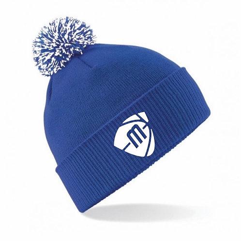 Manchester Magic & Mystics Blue and White Bobble Hat