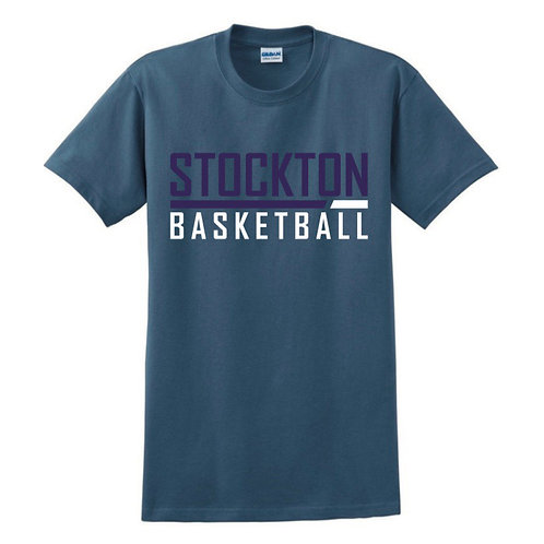 Stockton Basketball - Indigo Blue T-shirt Design 5