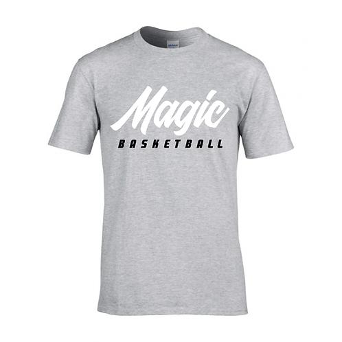Manchester Magic Basketball Sport Grey T-shirt - White & Black