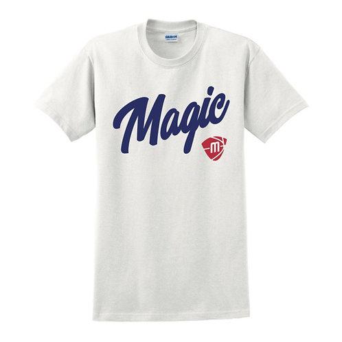 Manchester Magic Script & Logo White T-shirt